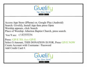 Givelify Donation App (iOS and Google Play)